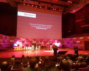 Een deel van de sprekers op het Being Connected evenement van TEDxRotterdam.