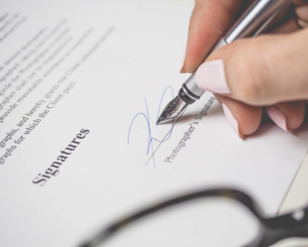 Arbeidsovereenkomst tekenen