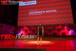 Powervrouw Sangbreeta gaf een krachtige speech tijdens het Being Connected evenement van TEDxRotterdam.