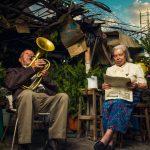 bejaard koppeltje in een lange relatie