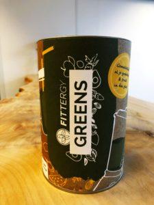 Greens van Fittergy waarmee je gemakkelijk al je groenten en fruit in één glas hebt